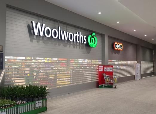 Woolworths Perth Arcade 3 Roller Shutter