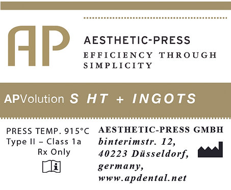 High translucent Plus ingots - APV S