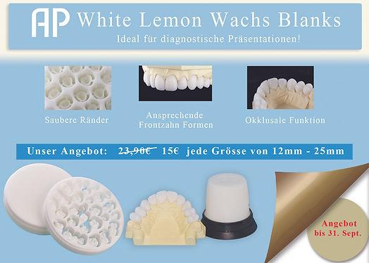 German Front White Lemon Wax post flyer.
