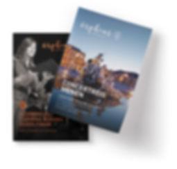 Orpheus Reizen brochures ontwerp Formaris