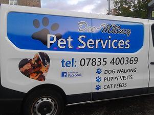 pet services van graphics