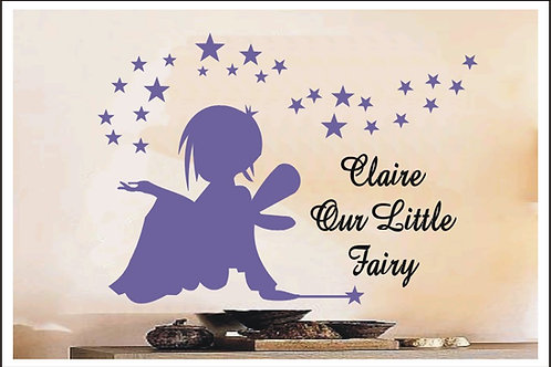 Personalised Our Little Fairy Princess Wall Sticker