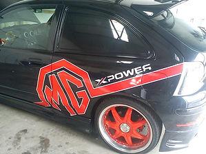 mg sports car graphics