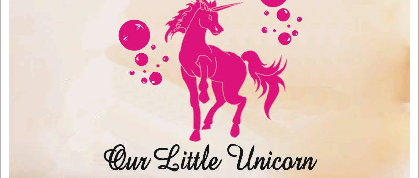 Personalised Our Little Unicorn Wall Sticker