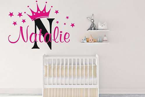 Personlaised Princess Crown Wall Sticker