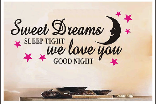 Moon Sweet Dreams Sleep Tight Wall Sticker