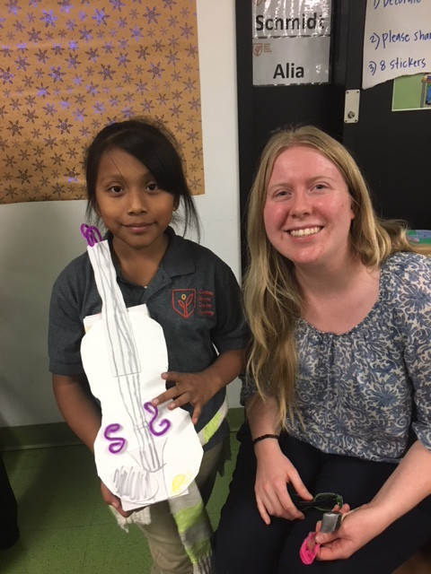 Paper Violin Making at LA Philharmonic