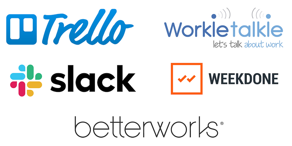 Trello Slack WorkieTalkie Weekdone BetterWorks