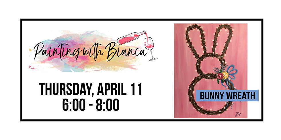 Painting with Bianca ::: Bunny Wreath