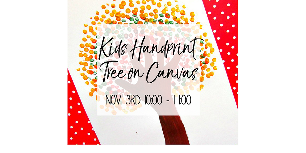 Kid's Handprint Tree on Canvas $20