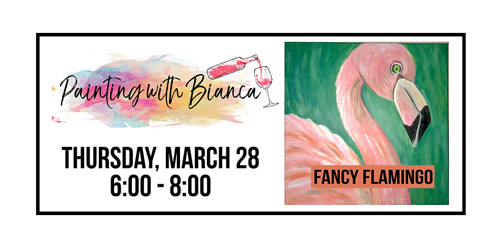 Painting with Bianca ::: Fancy Flamingo