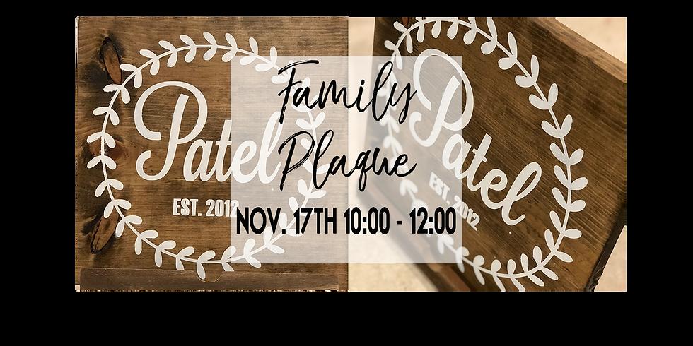 Family Name Plaque $25