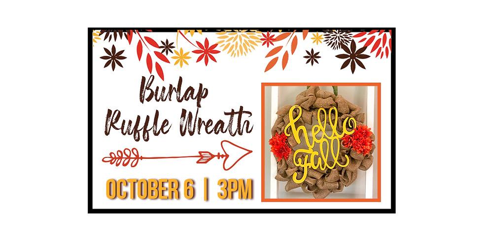 Fall Burlap Ruffle Wreath