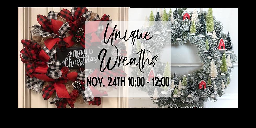 Unique Wreaths $40