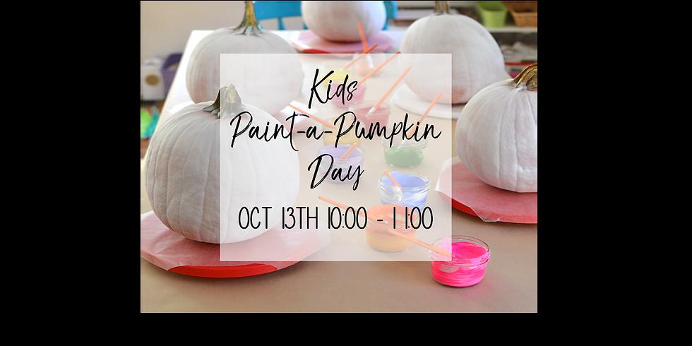 Kid's Paint a Pumpkin $20