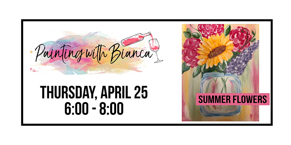 Painting with Bianca ::: Summer Flowers