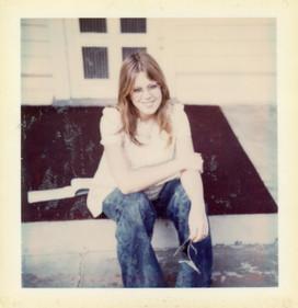 Jan sitting on the porch at 5th Nov 1975