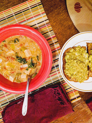 6/105 - Spicy Peanut Soup from One Dish Vegan by Robin Robertson