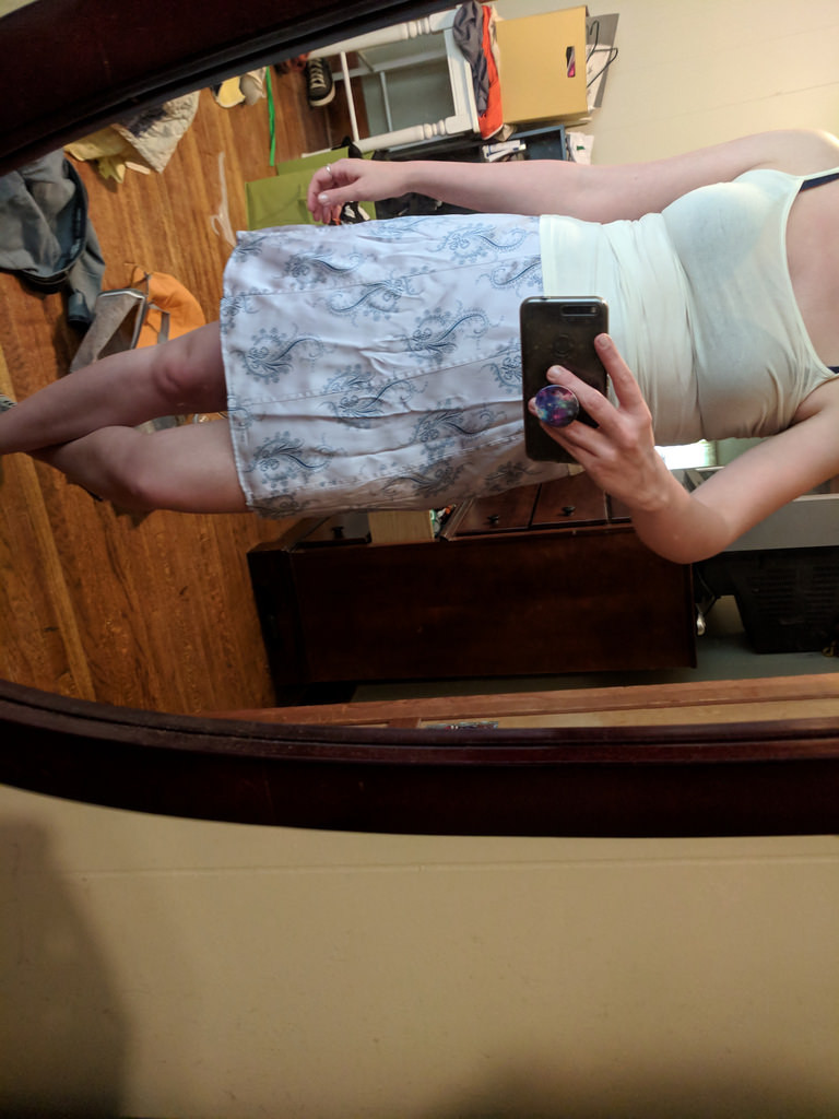 Kept this skirt because I GOT MARRIED IN IT.