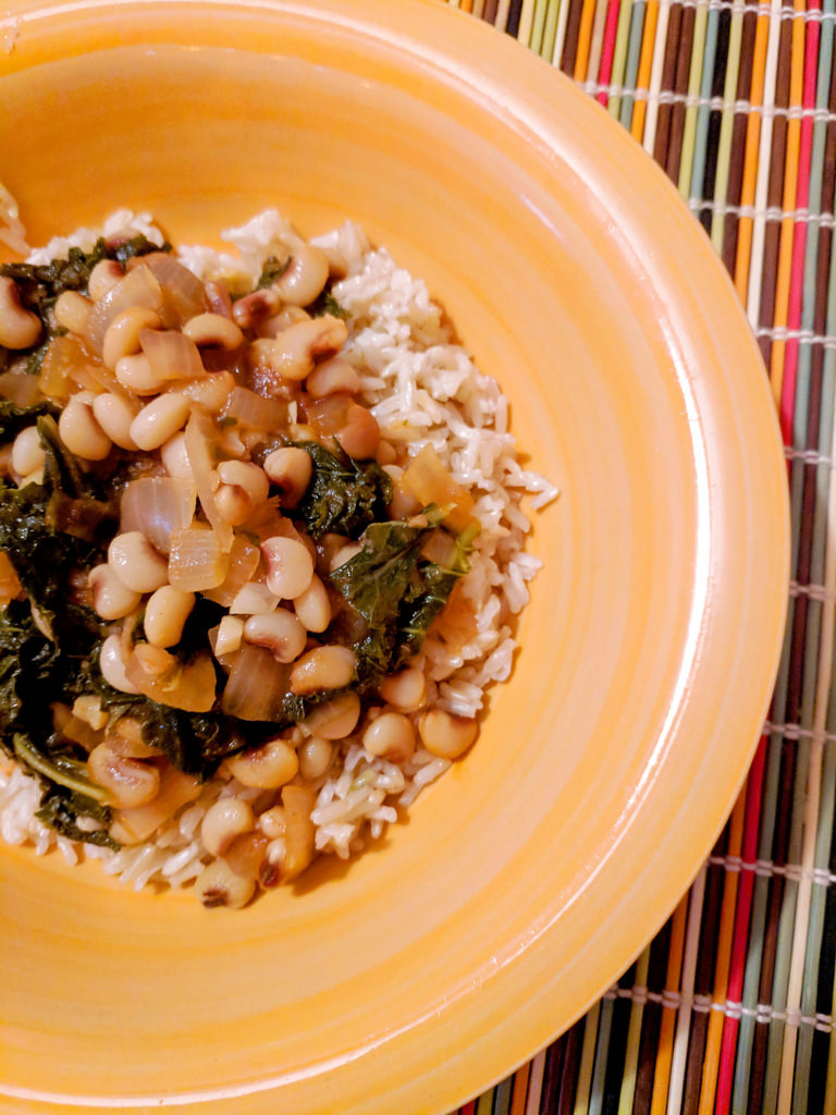 Hottie Black Eyed Peas with Kale
