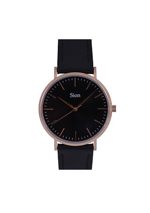 Rose gold - Black dial