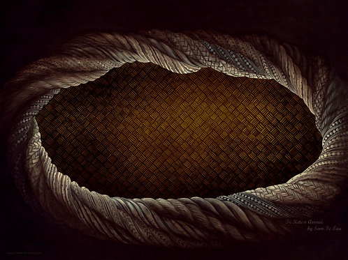 copy of copy of Te Kete Aronui - large sepia canvas print Size 140cm x103cm