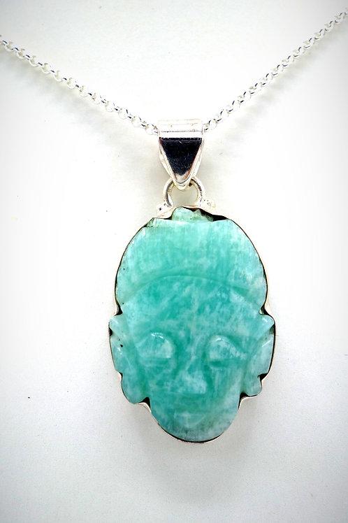 Amazonite ( tête deBouddha )