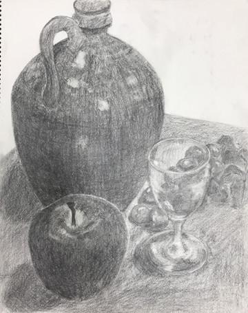 初めての鉛筆素描