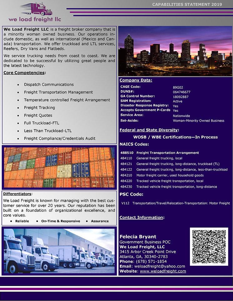 updated We Load Freight LLC - Capabiliti