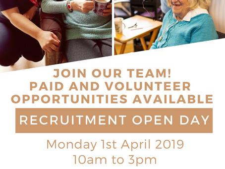 Looking for work or volunteering opportunities?
