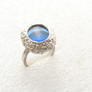Meropi Toumbas Ring with glass cabochon1