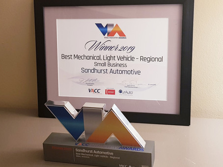 Winner! 2019 Best Mechanical Repairer Light Vehicle Regional