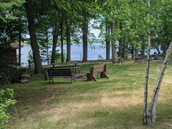 Resort grounds northward toward lake