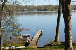 Our dock in early spring