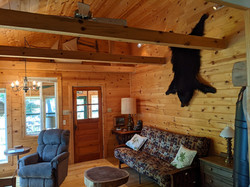 Living room from kitchen doorway