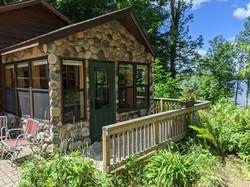 Maple Cabin North Porch