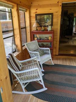 North entry porch W side