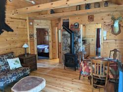 Living room from sliding door to deck