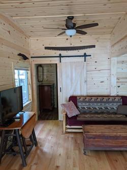 East bedroom doorway from entry door