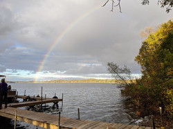 Rainbow as seen from our dock in Septmber