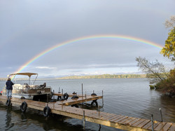 Rainbow from our dock.