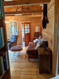 Living room from bathroom doorway