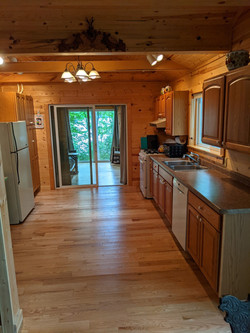 Kitchen and sliding door to the Sunset Room