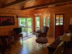 Living room from bedroom doorway