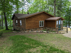 Oak Cabin from the east