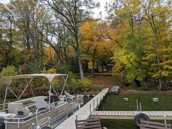Oak Cabin from the dock in September