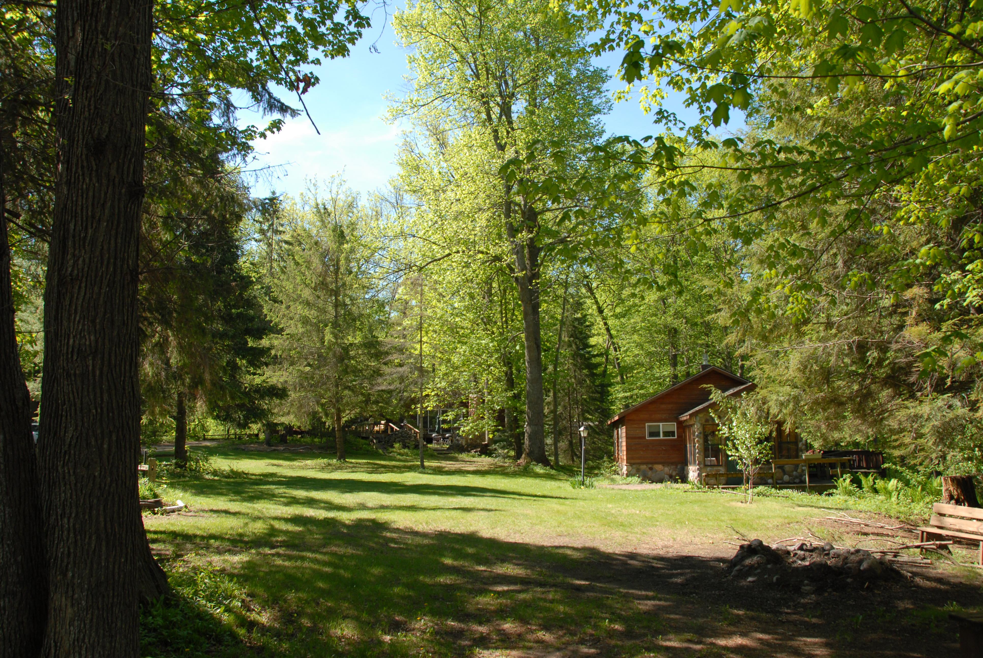Maple cabin viewed from Oak Cabin
