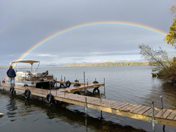 Rainbow from our dock in September