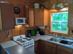 Kitchen in Pine Cabin