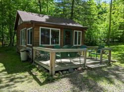 Pine Cabin deck